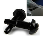 2pcs Front Windshield Washer Wiper Spray Nozzle Jet Kits Aluminum Fit For Car