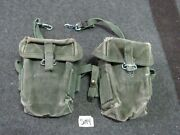 Us Gi M-56 Universal Small Arms Pouch Vietnam Era X2 Matched Up Sm4