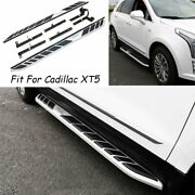 Silver Aluminum Running Board Side Pedals Foot Pedal For 2016-2020 Cadillac Xt5