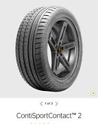 Pair Of New Continental Sportcontact 2 Mo Tires 255/35 Zr20 Free Shipping