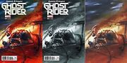 Ghost Rider 1 Marvel Now Dell'otto Color, Signed Bandw And Virgin Variant Set Of 3