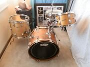 Early 60's Rogers Beebop Holiday Drum Kit 20,14,12,snare,natural Finish Clev Era