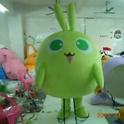 Green Anime Doll Mascot Costume Suit Cosplay Party Game Dress Halloween Adult A