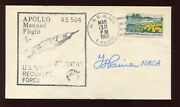 Thomas O. Paine Nasa Admin Signed 1969 As 504 Apollo 8 Recovery Force Cover