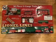 Lionel Lines 36 Piece G-gauge Christmas Train Set With Remote New Open Box
