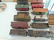 Vintage Metal Lionel O Scale Train Lot, Includes Assorted Cars, Engines Track