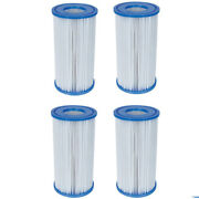 4 Pack Bestway Type Iii A/c Filter Cartridge For 1000 And 1500 Gph Filter Pumps