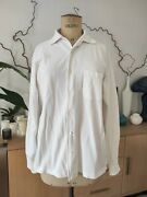 Loro Piana White Pique Cotton Overshirt Size L Made In Italy