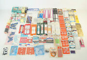 Huge Vintage Lot Of Sewing Items Crafting Material Patches Thread Pins Needles