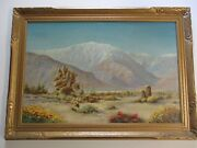 Early California Plein Air Desert Landscape Painting Impressionist Large Zutto