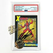 Psa 1991 Deadpool 3 X-force Andbull Rookie Card Andbull Signed By Rob Liefeld