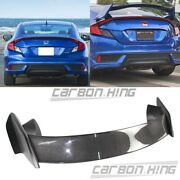 16 Fit For Honda Civic X Coupe 2d R Type Rear Trunk Boot Spoiler Carbon + Paint