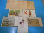 Ww2 Former Japanese Army 5 Postcards + Military Postcard Fs From Japan M5102