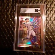 🔥  2020 Donruss Optic Bo Bichette Stained Glass Holo Rc Rookie Sgc 10