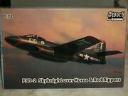 Sword 1/72 Scale F3d-2 Skyknight Over Korea And Red Rippers