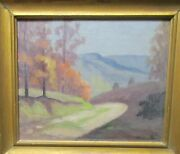 Frederick Polley Brown County Road Original Oil On Board Landscape Painting
