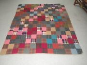 Vibrant Colors Vintage Antique Amish Quilt Very Nice Stunning Patch Design