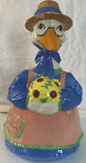 Vintage Mother Goose Cookie Jar 15andrdquo High 10andrdquo Wide Pre 1959s Some Chips On Hat
