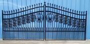 Custom Built Driveway Entry Gate 14ft Wd Dual Swing Fencing Residential Security