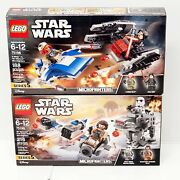 Star Wars Lego 75195 And 75196 Micro Fighters Lot...new In Sealed Box