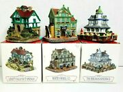 Vtg Liberty Falls Americana Collection Ah164 ,165 ,169 3 Piece Hand Painted Lot