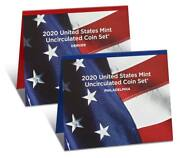 2020 United States Mint Uncirculated Coin Set 20rj Pandd