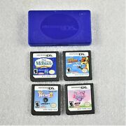 Nintendo Ds 4 Games Horses2 My Little Pony Over The Hedge The Little Mermaid