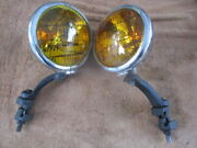 1940and039s -1950and039s Kilborn And Sauer 5 1/2 Inch Fog Lights With Mounting Brackets 6v