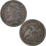 1834 Capped Bust Half Dime Vf Very Fine 89.24 Silver 5c Us Type Coin