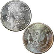 1881 S Morgan Dollar Bu Choice Uncirculated Mint State 90 Silver 1 Coin Toned