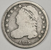 1835 Bust Dime. Near Full Liberty. Natural Uncleaned Full Rims. 158862