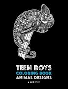 Teen Boys Coloring Book Animal Designs Complex Animal Drawings For Older Bo...