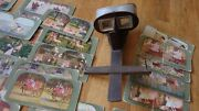 Antique Monarch Stereoscope Viewer And 46 T.w. Ingersoll 1898 Viewing Cards, Rare