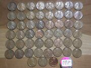 Lincoln Wheat Cents - 1909 P - Roll/lot Of 51