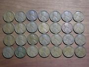 Lincoln Wheat Cents - 1924 S - Roll/lot Of 28