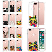 For Apple Iphone 7/8 Plus 5.5 Animal Design Clear Tpu Soft Gel Case Phone Cover