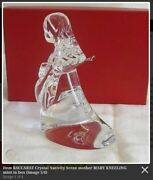 Neuf Version Baccarat Nativity Scene Mary Andagrave Genoux Signandeacute Cristal 5 Grand Mib
