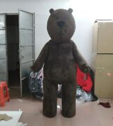 Christmas Brown Bear Mascot Costume Cosplay Party Game Clothing Carnival Adults