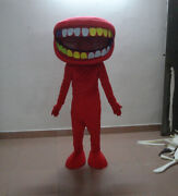 Christmas Cartoon Red Big Mouth Mascot Costume Party Holiday Special Clothing @@