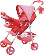 Doll Ultimate Travel System Stroller D83589 With Retractable Canopy And