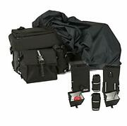 Atv/quad Rear Rack Bag With Rain Cover And Insulated Cooler Bags, Rear Bag