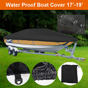 17and039 18and039 19and039 Boat Cover For Runabout Speedboat Bass Fishing Motorboat Black Bbt2b