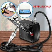 100-250v Professional Gravity Feed Dual Action Airbrush Air Compressor Lz