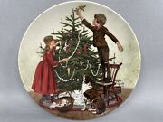 """""""christmas"""" Plate Edwin Knowles"""