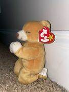 Limited Edition Retired Hope The Praying Bear Beanie Baby