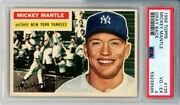 1956 Topps 135 Mickey Mantle Grey Back Psa 4 Nicely Centered
