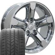2267 Chrome 20 Wheels And Goodyear Tire Set Fit Dodge Ram Jeep Chrysler