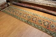 11 Ft. Antique Traditional Anatolian Rug Vintage Oriental Hall Runner 2'7 X 11'