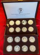 North American Nahc Upland Game Birds Silver Proof Plated Coin Set W/ Bonus