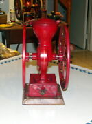 Antique Elgin The Little National 2 Wheel Coffee / Spice Grinder - Mill